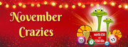 November Crazies at Bingo Bytes - Win Gift Vouchers Every Week