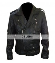 Ryan Gosling MTV Movie Award Black Biker Leather Jacket