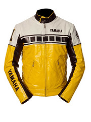 Yamaha Yellow & Black Motorcycle Leather Jacket