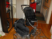 Quinny Speedi Jogger Stroller and Quinny Dreami Speedi Carrycot
