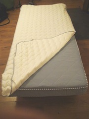 Fold Up Guest Bed with IKEA Mattress 90cm x 200 cm (inc Mattress Prot)