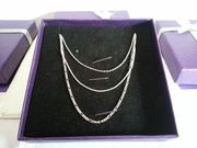 "Set of 3 Sterling Silver 18"" Necklaces"