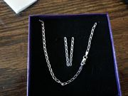 "Sterling Silver 18"" Necklace"