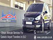 Hire discounted minicab in Gatwick for airport transfers in £62 only