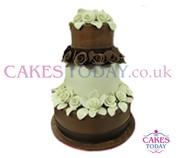 Chocolate Flower Dream Wedding Cake