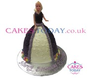 Purple Gown Doll Cake