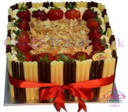Luxury Strawberries & Almonds Cigarillo Cake