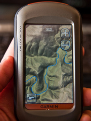 GARMIN OREGON 300t Handheld GPS Navigator / Hiking BUNDLE