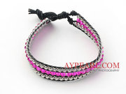 Crystal and Silver Color Beads Woven Bracelet Is Sold At $5.47