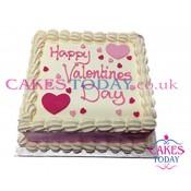 Valentines Vanilla Cream Cake