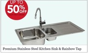 Premium quality stainless steel kitchen sink and tap by Techni Pros