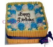 Cigarillo (Blue & White Theme) Cake