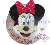 Minnie Starpiped (Face) Cake
