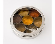 Stainless Steel Spice Box and Masala Dabba with SS Lid & Cover Size 10