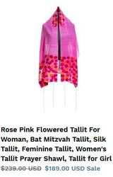 Best quality women's Tallit conveniently only with Galilee silks!